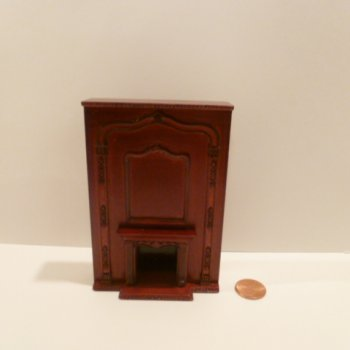 "1/2"" Scale Fireplace w/tall mantel MH"