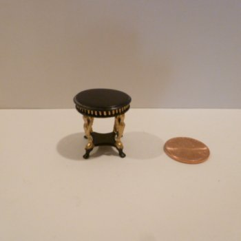 "1/2"" Scale ""Uptown Deco"" Coffee Table BKG"