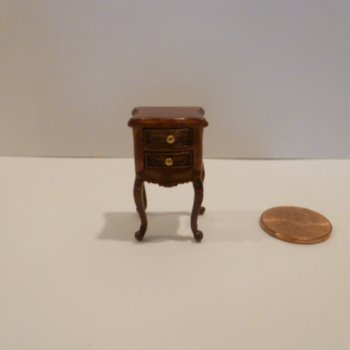 "1/2"" Scale End Table w/drawers NWN"