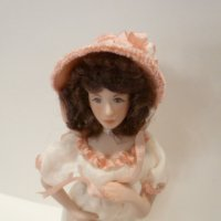 Lady Doll wearing white outfit w/pink hat