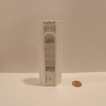 "1/2"" Scale ""Manor Library Collection"" CORNER UNIT BWT"