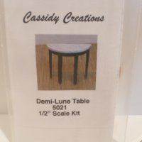 "1/2"" Scale Demi-Lune Table KIT"