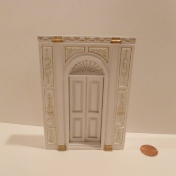 "1/2"" Scale ""Manor Library Collection"" DOOR UNIT BWT"