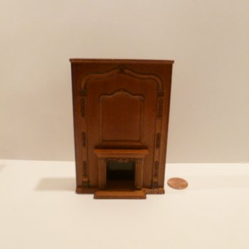 "1/2"" Scale Fireplace w/tall mantel NWN"