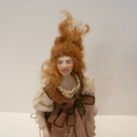 Lady Doll w/crazy hair by Sylvia Lyons