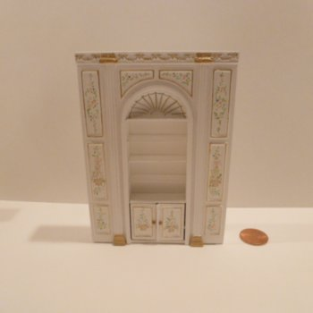 "1/2"" Scale ""Manor Library Collection"" SHELF UNIT BWT"