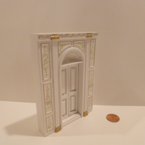 "1/2"" Scale ""Manor Library Collection"" DOOR UNIT BWT - Click Image to Close"