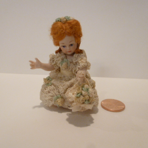 Little girl doll (FLOWER GIRL) BY Jan Clarke Of England - Click Image to Close