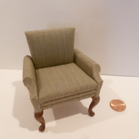 Fabric Covered Chair By Sonia Messer