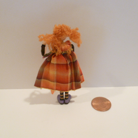Girl Doll made by Kathi Kuti (broken thumb) - Click Image to Close