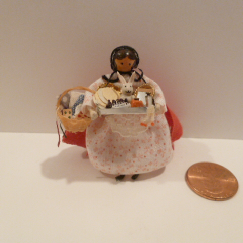 Tiny Peddler Doll - Click Image to Close